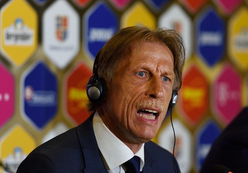 Romanian fans had been hoping Christoph Daum, seen in 2016, would breathe new life into a struggling team and take the country to a first World Cup since 1998
