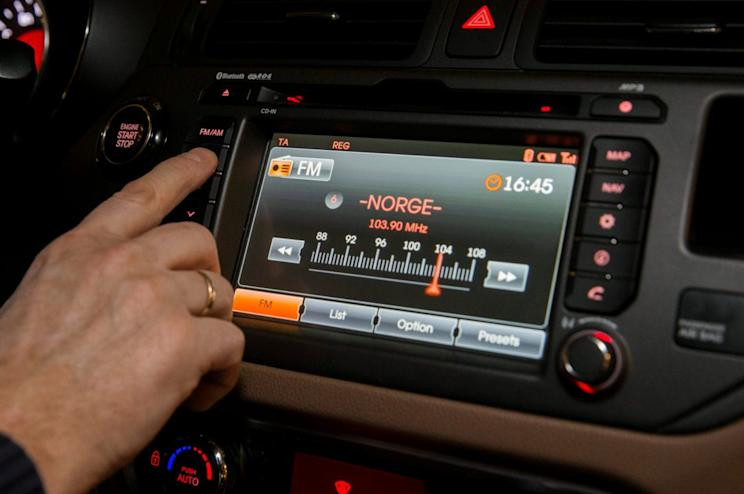 FM radio is seen inside a car in Oslo, Norway January 10, 2017. By the end of this year the FM network will be shut down in all of Norway. NTB scanpix/ Berit Roald