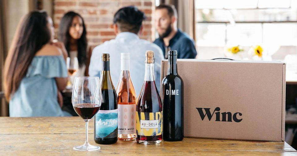 """<p><strong>Winc</strong></p><p>winc.com</p><p><a href=""""https://go.redirectingat.com?id=74968X1596630&url=https%3A%2F%2Fwww.winc.com%2Fgifts%2Fgift-cards%2Foptions&sref=https%3A%2F%2Fwww.womansday.com%2Frelationships%2Ffamily-friends%2Fg27191135%2Flast-minute-mothers-day-gifts%2F"""" rel=""""nofollow noopener"""" target=""""_blank"""" data-ylk=""""slk:Shop Now"""" class=""""link rapid-noclick-resp"""">Shop Now</a></p><p>Winc is an online wine club that offers digital gift cards to their subscription service. For each month purchased, they'll send the mom or moms in your life four bottles of wine all tailored to their individual taste and preferences.</p>"""