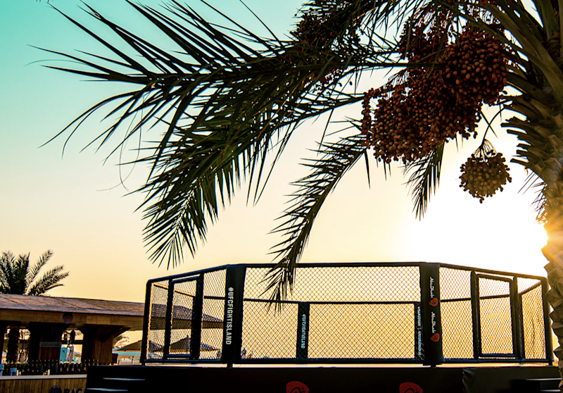 UFC's beach Octagon on 'Fight Island' in Abu Dhabi: UFC