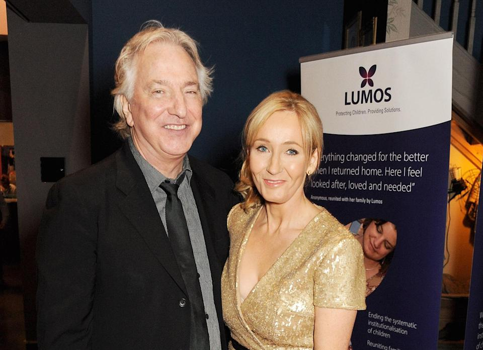 J.K. Rowling tweeted a bunch of thoughtful things about Alan Rickman, and now we're officially sad