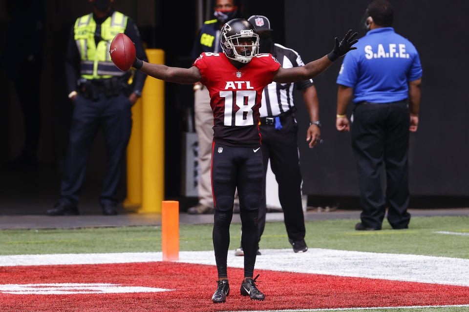 Calvin Ridley #18 of the Atlanta Falcons