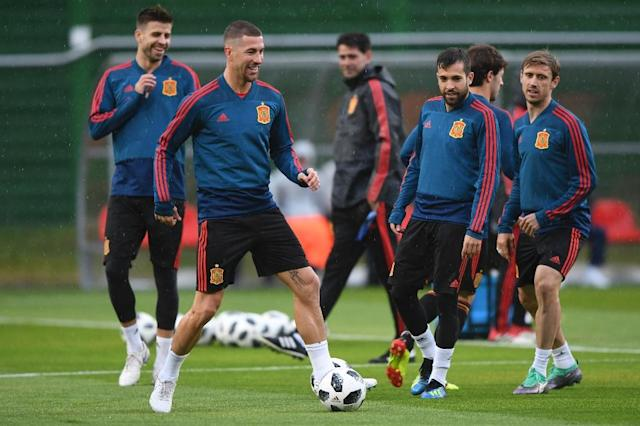 Sergio Ramos and Spain have coped well so far since the shock dismissal of coach Julen Lopetegui (AFP Photo/OZAN KOSE)
