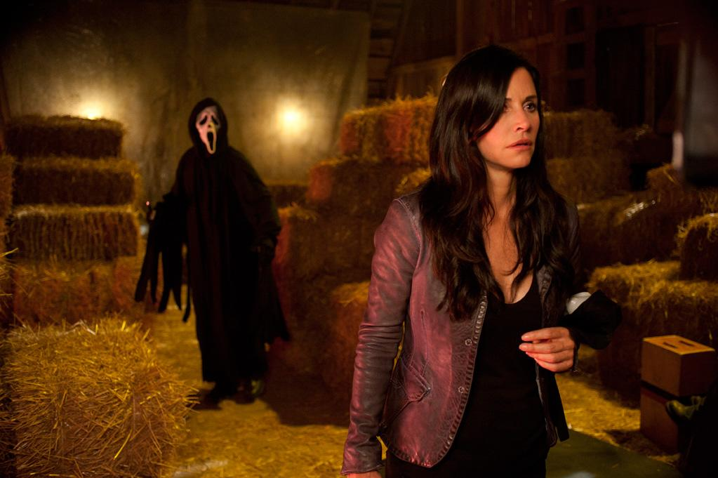"<a href=""http://movies.yahoo.com/movie/1810035905/info"">SCREAM 4</a>  Release Date: April 15, 2011  Starring: <a href=""http://movies.yahoo.com/movie/contributor/1800024387"">Courteney Cox</a>, <a href=""http://movies.yahoo.com/movie/contributor/1800018951"">Neve Campbell</a> and <a href=""http://movies.yahoo.com/movie/contributor/1800019202"">David Arquette</a>"