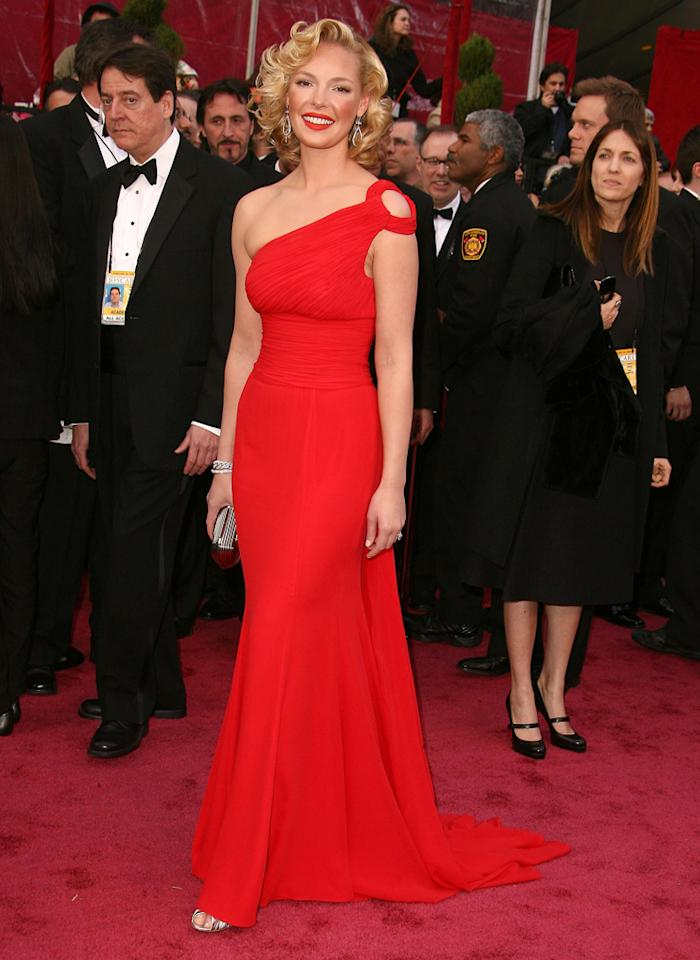 Katherine Heigl admitted to wearing Spanx underneath her stunning one-shoulder red Escada gown at the 80th Annual Academy Awards back in 2008. She also told Oprah that she wore SPANX under her wedding dress.