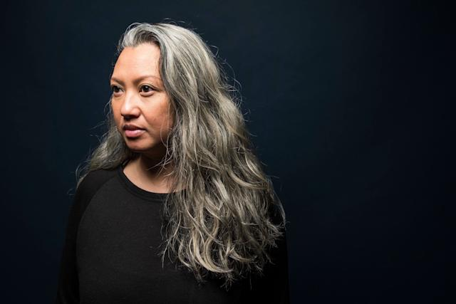 """""""I started going gray technically when I was 16, and I was horrified. I started plucking them like crazy. I got regular highlights, and I never really noticed I had more gray hair until I was pregnant with my daughter. I kept dying and dying it and noticed it was coming so quickly -- I was dying my hair every two weeks.That'swhen I realized I needed to stop. Iwas spending a lot of money on my hair and it wasn't sticking. Now, I finally love it. I really do love it."""""""