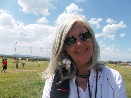 Italian-born conservationist Gallmann poses for a photograph during the Highland Games in Laikipia Kenya