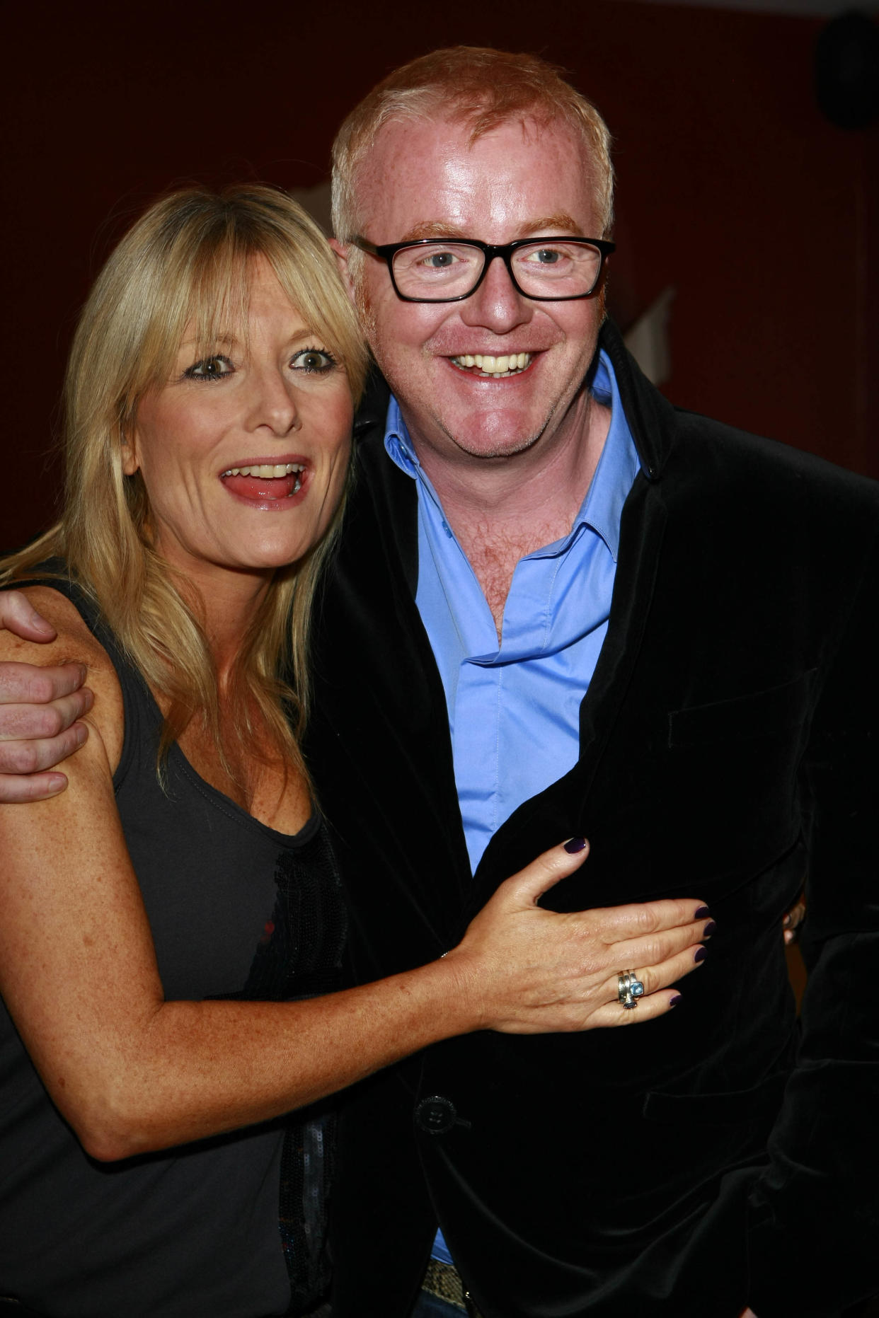 LONDON, ENGLAND - OCTOBER 1: (EMBARGOED FOR PUBLICATION IN UK TABLOID NEWSPAPERS UNTIL 48 HOURS AFTER CREATE DATE AND TIME) Gaby Roslin and Chris Evans attend Chris Evans book launch party, held at the Groucho Club, Soho, on October 1 2009 in London, England.  (Photo by Dave M. Benett/Getty Images)