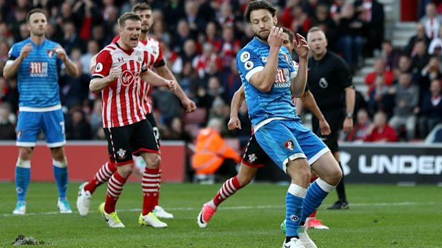 Harry Arter said that he suffered the same problem with the Southampton pitch that caused Harry Kane to miss a penalty in December.