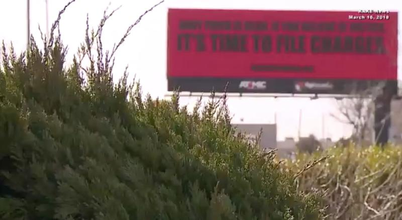 New billboards in Wichita, Kansas, are calling for justice for Andy Finch, a local man shot dead by a police officer in December.