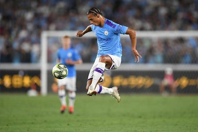 Bayern Munich are reportedly set to sign Manchester City's Germany winger Leroy Sane on a five-year deal. (AFP Photo/CHARLY TRIBALLEAU)