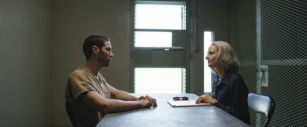 Tahar Rahim and Jodie Foster in 'The Mauritanian' (STX)