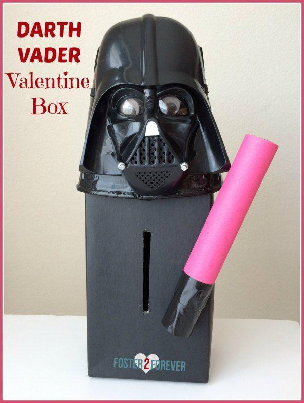 """<p>This is the coolest Valentine's box ever for <em>Star Wars </em>fans. Darth Vader will be a huge hit, especially with the cute pink light saber.</p><p><strong>Get the tutorial at</strong> <a href=""""https://foster2forever.com/2015/02/star-wars-valentine-box.html"""" rel=""""nofollow noopener"""" target=""""_blank"""" data-ylk=""""slk:Foster 2 Forever."""" class=""""link rapid-noclick-resp""""><strong>Foster 2 Forever.</strong></a></p><p><a class=""""link rapid-noclick-resp"""" href=""""https://www.amazon.com/Rubies-Star-Darth-Vader-Molded/dp/B0009S6TJ4/?tag=syn-yahoo-20&ascsubtag=%5Bartid%7C2164.g.35119968%5Bsrc%7Cyahoo-us"""" rel=""""nofollow noopener"""" target=""""_blank"""" data-ylk=""""slk:SHOP MASKS"""">SHOP MASKS</a></p>"""