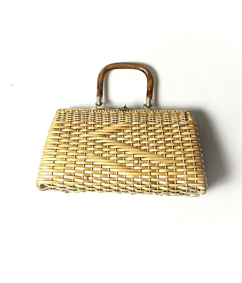 """<p>Straw Tote, $29.Shop this vintage version and similar options at <a rel=""""nofollow"""" href=""""https://www.etsy.com/listing/126417705/straw-tote-straw-purse-vintage-straw-bag?ga_order=most_relevant&ga_search_type=all&ga_view_type=gallery&ga_search_query=straw%20bag&ref=sr_gallery_6"""">etsy.com</a>. </p>"""