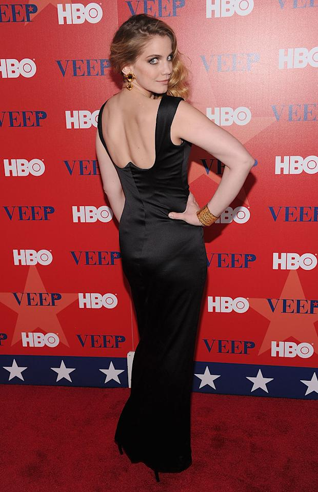 "Anna Chlumsky attends HBO's screening of ""<a href=""http://tv.yahoo.com/veep/show/47343"">Veep</a>"" on April 10, 2012 in New York City."