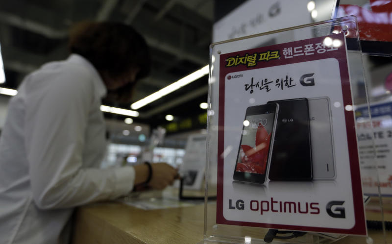 LG Electronics post profit on smartphone sales
