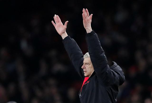 Soccer Football - Europa League Round of 16 Second Leg - Arsenal vs AC Milan - Emirates Stadium, London, Britain - March 15, 2018 Arsenal manager Arsene Wenger REUTERS/David Klein