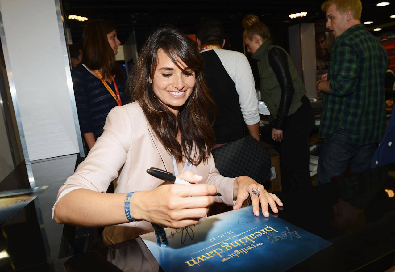 """SAN DIEGO, CA - JULY 12:  Actress Mia Maestro attends """"The Twilight Saga: Breaking Dawn Part 2"""" during Comic-Con International 2012 at San Diego Convention Center on July 12, 2012 in San Diego, California.  (Photo by Michael Buckner/Getty Images for Lionsgate)"""