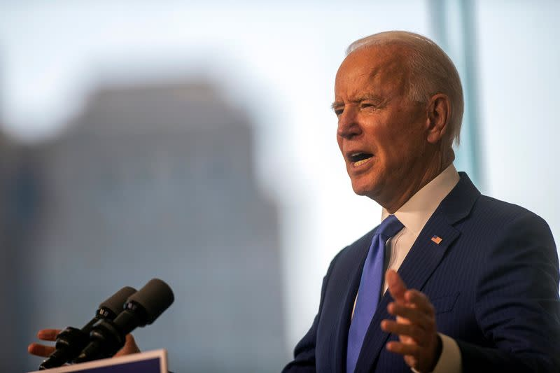 Biden blasts Trump plan to push for Supreme Court nominee ahead of election