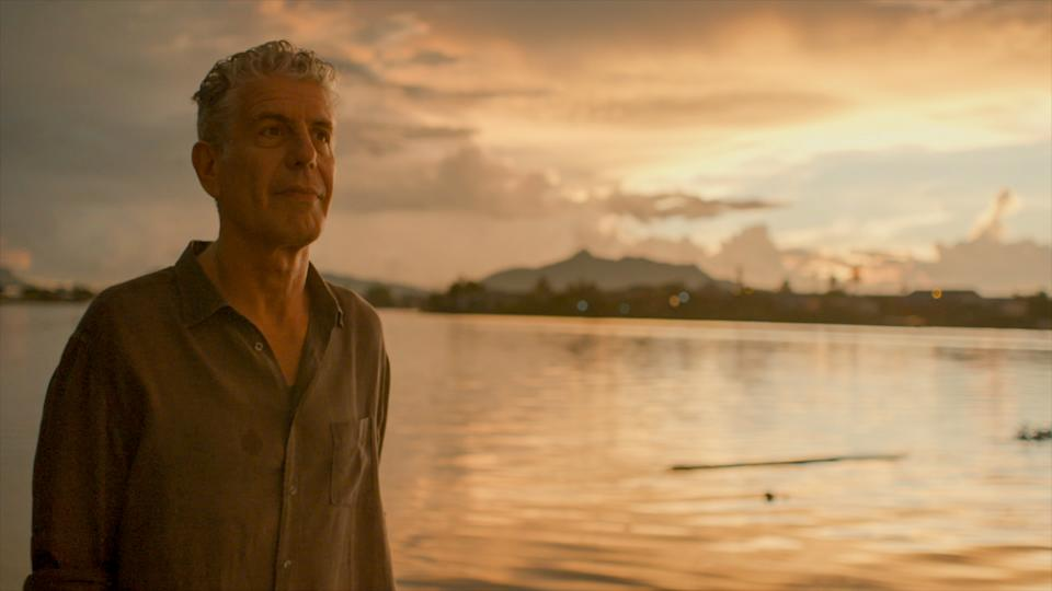 Bourdain in a contemplative scene from the documentary Roadrunner (Photo: Courtesy of Focus Features)