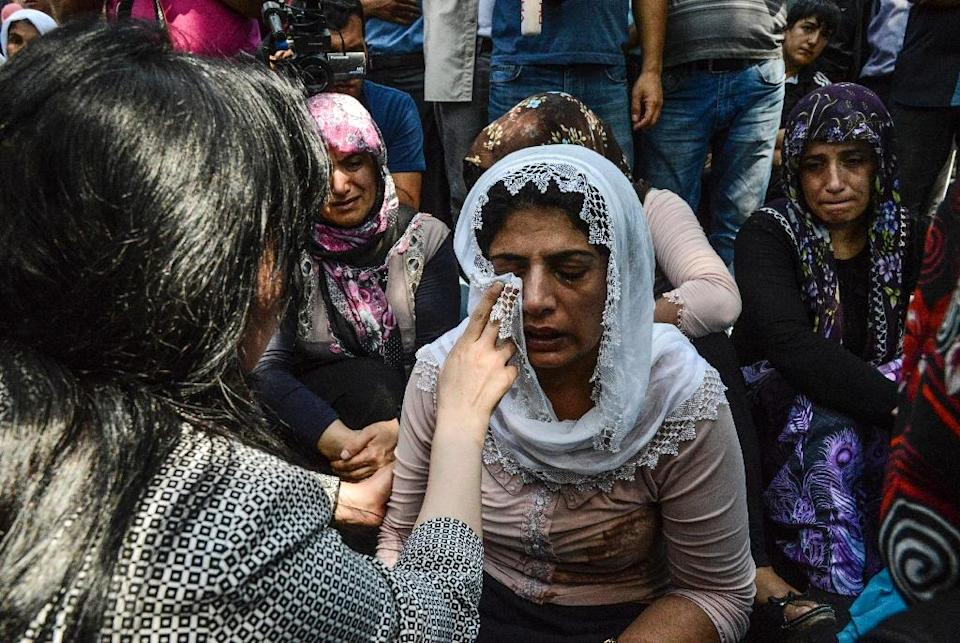 The attack late Saturday on a crowded street wedding in the city of Gaziantep was the latest in a devastating series of bombings in Turkey (AFP Photo/Ilyas Akengin)
