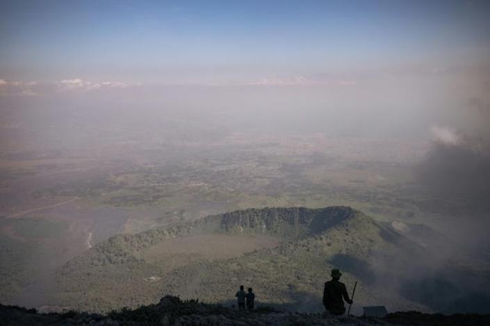 The big view: How it looks from from the top of Mount Nyiragongo