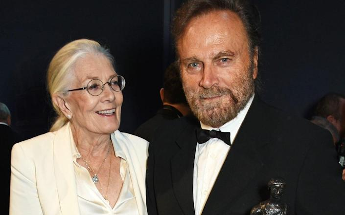 Vanessa Redgrave with her husband, the director Franco Nero. Nero said he would welcome Spacey back to work on his film