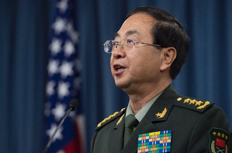 """General Fang Fenghui, pictured, told Djibouti President Ismail Omar Guelleh that China was willing to """"deepen pragmatic cooperation between the two countries and two militaries"""", the official PLA news source China Military Online reports (AFP Photo/Jim Watson)"""
