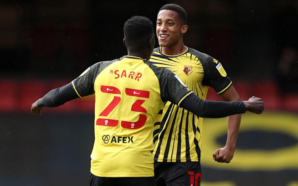 Joao Pedro celebrates his goal for Watford - Getty Images