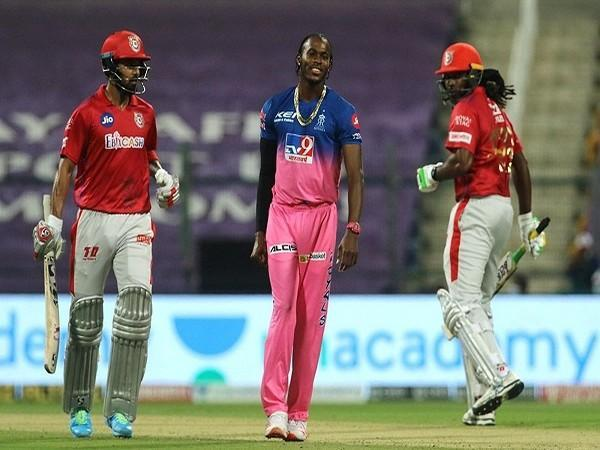 From L to R : KL Rahul, Jofra Archer and Chris Gayle (Image: BCCI/IPL)