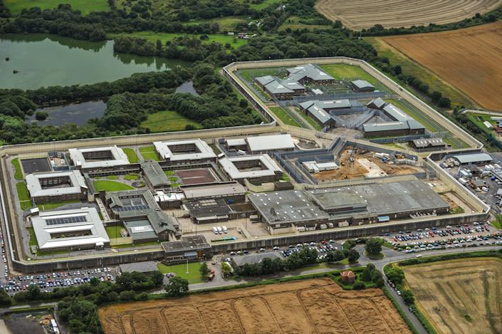 DURHAM, ENGLAND. AUGUST 06. Aerial view of HM Prison Frankland on August 6, 2008. This category A prison was opened 1980, it is located on the western edge of the village, Brasside, 2 miles north of Durham. (Photograph by David Goddard/Getty Images)