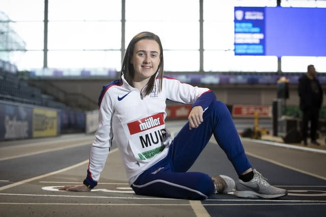 Laura Muir knows the Emirates Arena well (Jane Barlow/PA)