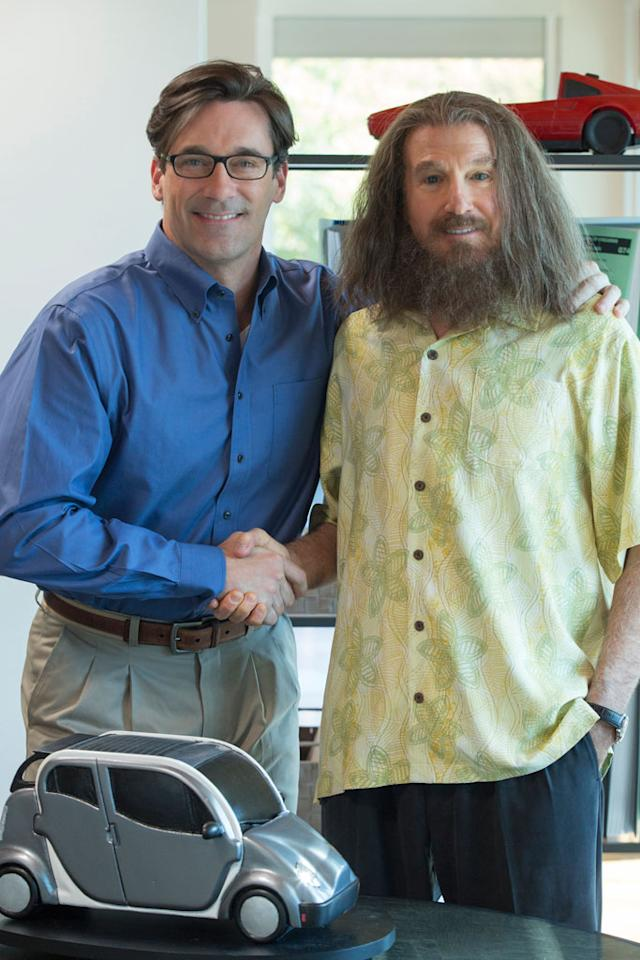 "Jon Hamm and Larry David in HBO Films' ""Clear History."""