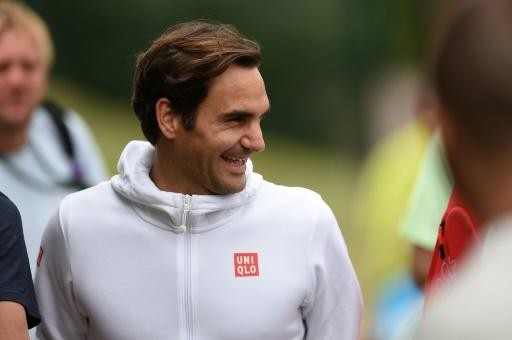Practice makes perfect: Roger Federer in training on Tuesday