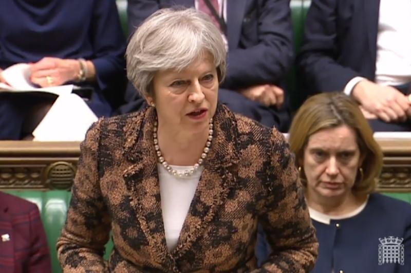 Britain's Prime Minister Theresa May stopped short of announcing retaliatory measures against Moscow