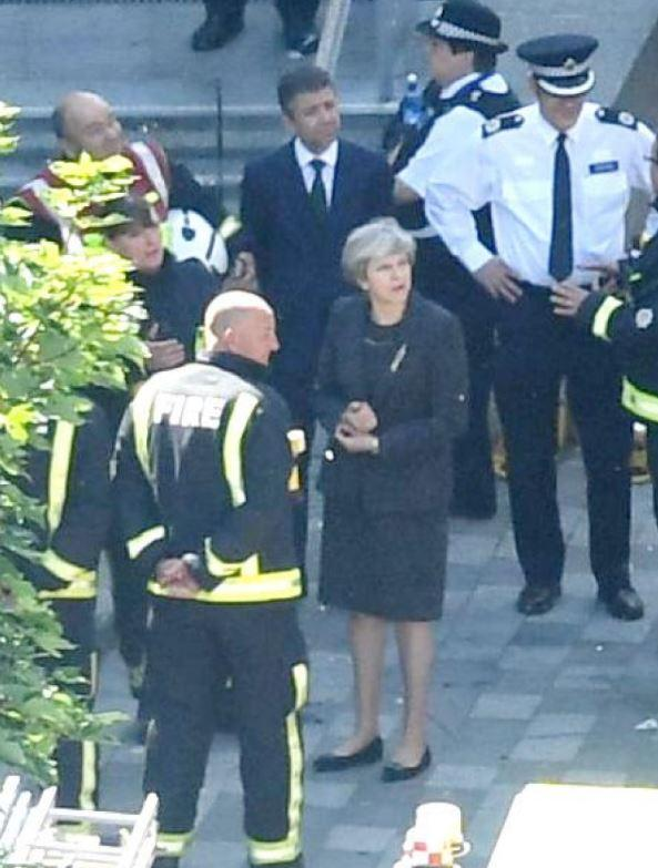 Theresa May's visit to Grenfell was not a success (Rex)