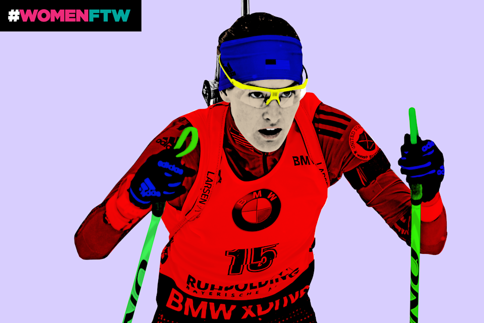 Clare Egan, biathlete. (Photo: Getty Images; Quinn Lemmers for Yahoo Lifestyle)