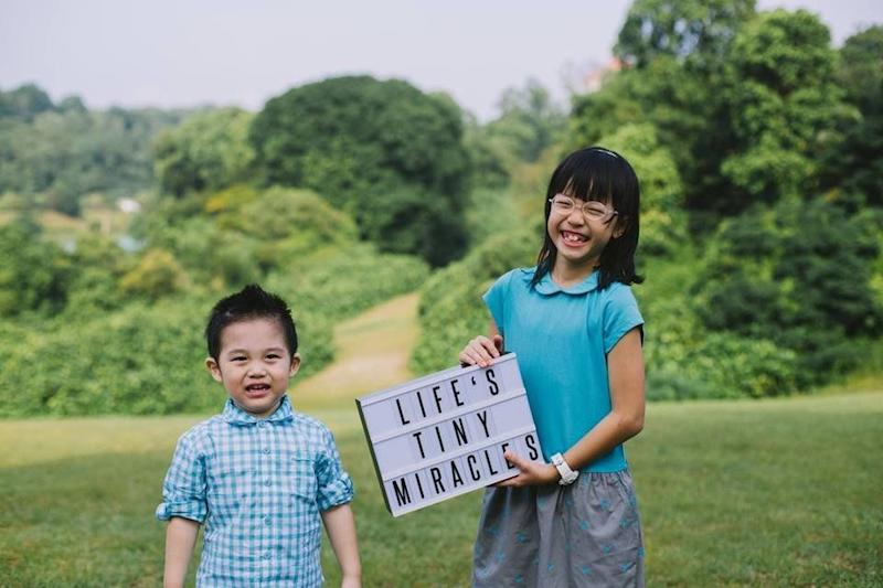 """My kids don't need a prefix, they are not my 'adopted' children, they are my children. The siblings are not a random happenstance, they are handpicked and pre-destined by God. How awesome is this privilege! That's the beauty of an adoptive family. Hope to do our bit for Adoption Awareness Month, right here from Singapore!"""