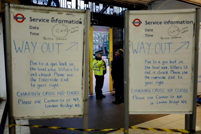 Charing Cross and Waterloo East train stations, which bring commuters into the capital, were also closed, while Underground trains were not stopping at Charing Cross