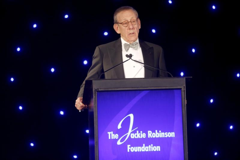 Stephen Ross speaks at the Jackie Robinson Foundation's awards dinner on Monday in New York. (Getty Images)
