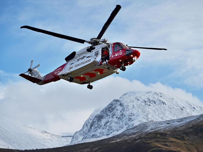 The UK Coastguard will search for the helicopter throughout the evening: Jeff J Mitchell/Getty
