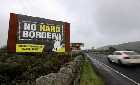 FILE PHOTO: View of the border crossing between the Republic of Ireland and Northern Ireland outside Newry