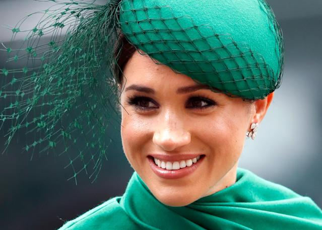Meghan has said it was a struggle to deal with the press attention. (Getty Images)
