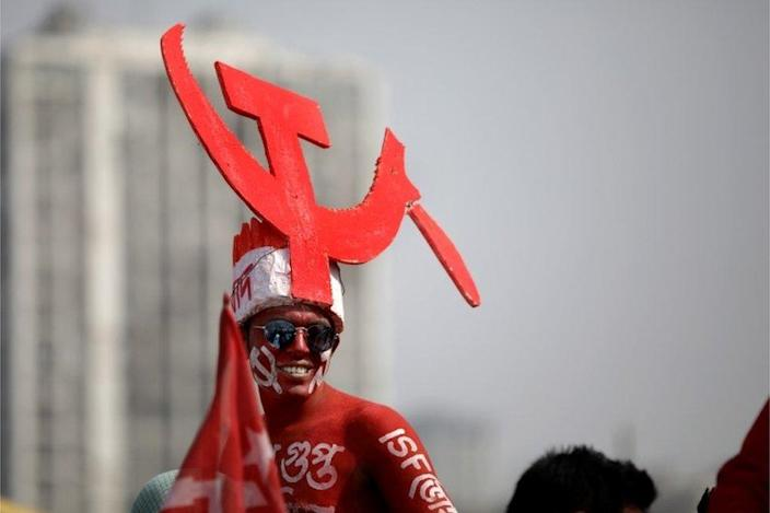 Activists will attend a mass rally of election campaigns in Brigade Ground on February 28, 2021, prior to the parliamentary elections in Kolkata, eastern India.