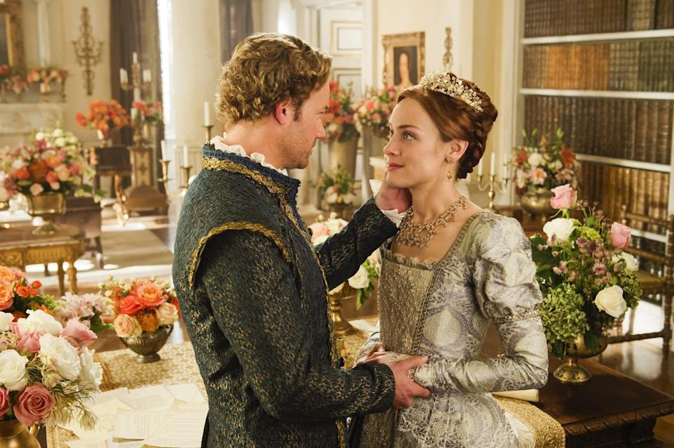 """<p>This historical drama tells the story of Mary, Queen of Scots, who must try and rule the kingdom as well as the emotions in her heart.</p> <p><a href=""""https://www.netflix.com/title/70283260"""" class=""""link rapid-noclick-resp"""" rel=""""nofollow noopener"""" target=""""_blank"""" data-ylk=""""slk:Watch Reign on Netflix now"""">Watch <strong>Reign</strong> on Netflix now</a>. </p>"""