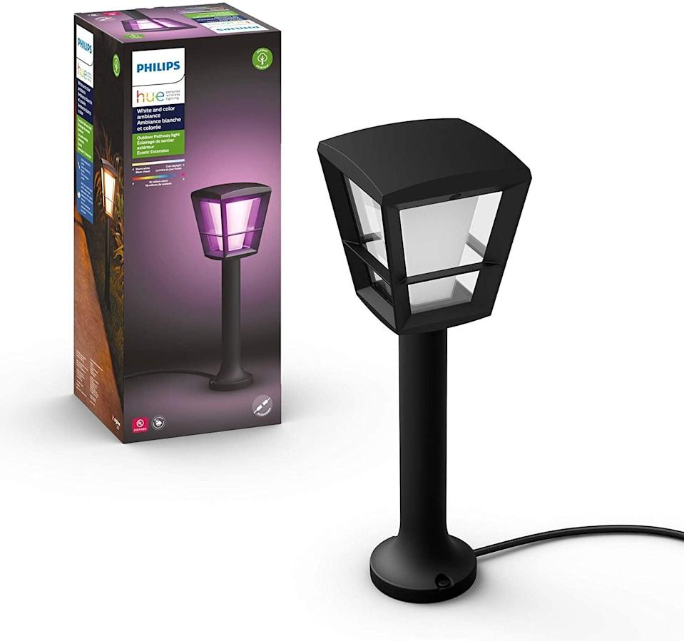 <p>Create the perfect lighting outdoors too with this <span>Philips Hue White & Color Outdoor Smart Pathway Light</span> ($124, originally $130). It connects to your smart phone, so you can control them from anywhere.</p>