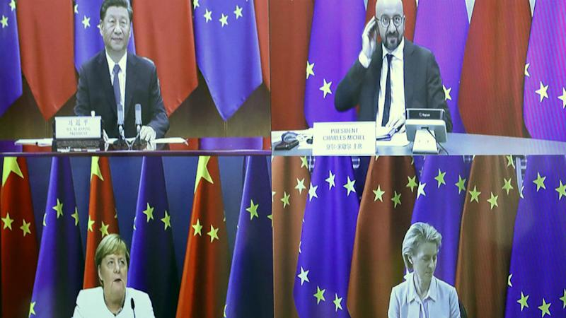 EU presses China on market access, human rights during virtual summit