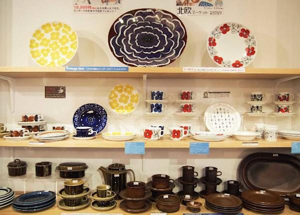 The day we visited a Scandinavian city was being featured. ARABIA vintage kitchenware