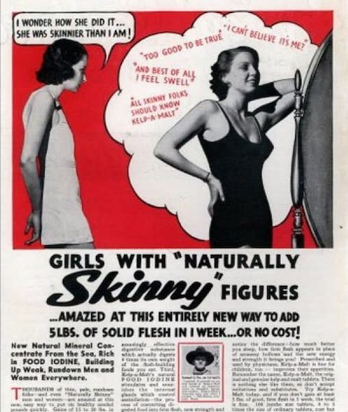 """<div class=""""caption-credit""""> Photo by: Retronaut</div><div class=""""caption-title"""">How Did She Do It?</div>""""An entirely new way to add 5 pounds of solid flesh in one week."""""""