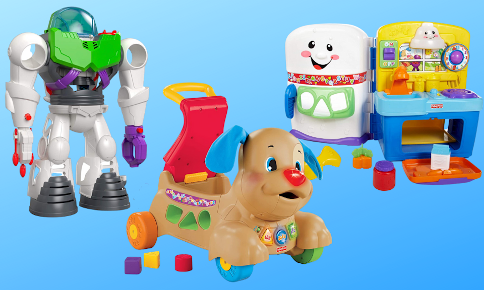 Save up to 40 percent off Fisher-Price toys today! (Photo: Amazon)